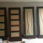 Repaint doors for downtown condo