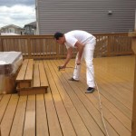Before: deck staining