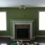 Fireplace and feature wall