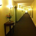 Hallway, doors and suites in apartment