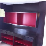 After: painted built-on cabinetry