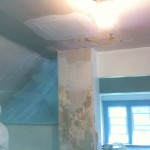 Before: Attic plaster walls