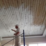 Spraying loft ceiling