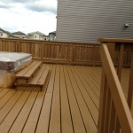 After: outdoor deck stain