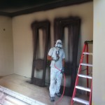 Staining decorative doors