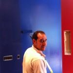 Winter Ridge: Sam apply a fun colour to the media room