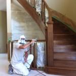 Winter Ridge: Staining stairs