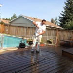 Preparing the deck